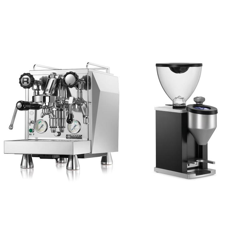 Rocket Espresso Giotto Cronometro V + Rocket Espresso FAUSTINO, black