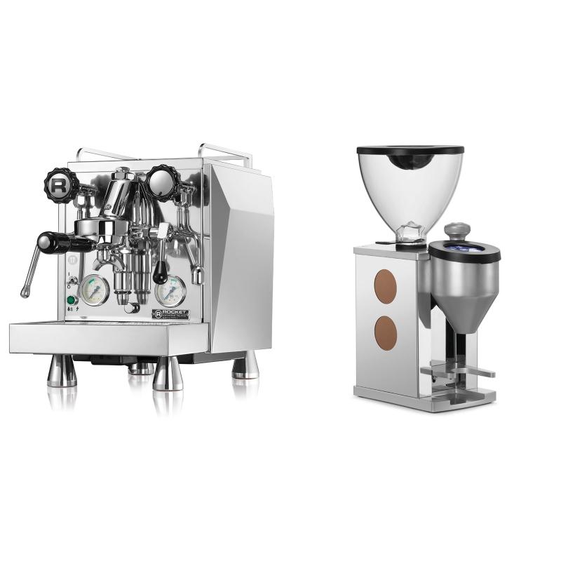 Rocket Espresso Giotto Cronometro V + Rocket Espresso FAUSTINO, copper