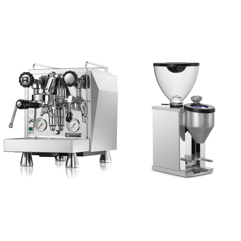 Rocket Espresso Giotto Cronometro V + Rocket Espresso FAUSTINO, chrome