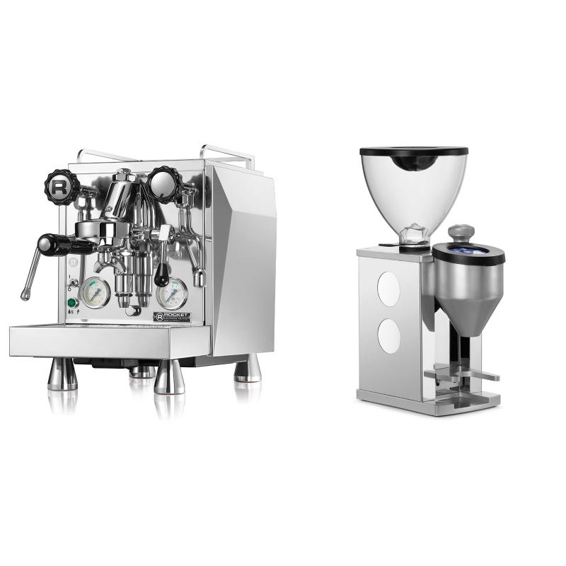 Rocket Espresso Giotto Cronometro V + Rocket Espresso FAUSTINO, white