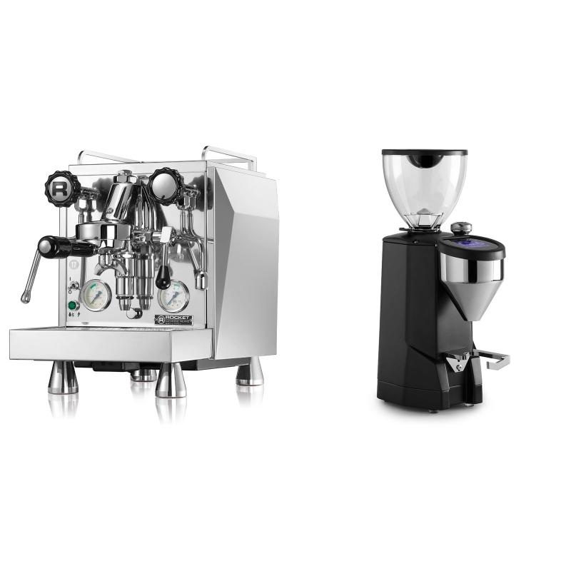 Rocket Espresso Giotto Cronometro V + Rocket Espresso SUPER FAUSTO, black