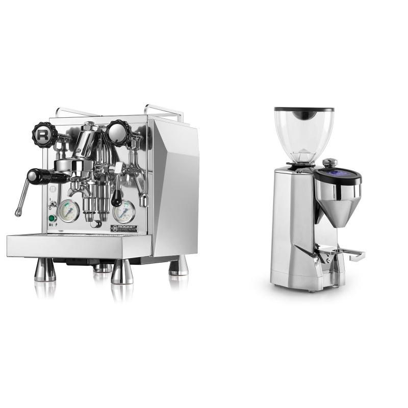 Rocket Espresso Giotto Cronometro V + Rocket Espresso SUPER FAUSTO, chrome