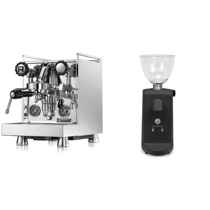 Rocket Espresso Mozzafiato Cronometro R + Ascaso i-mini i1, černá
