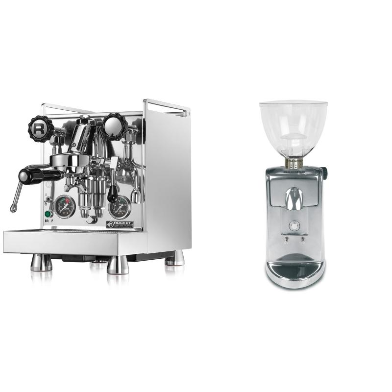 Rocket Espresso Mozzafiato Cronometro R + Ascaso i-mini i1, leštěný hliník