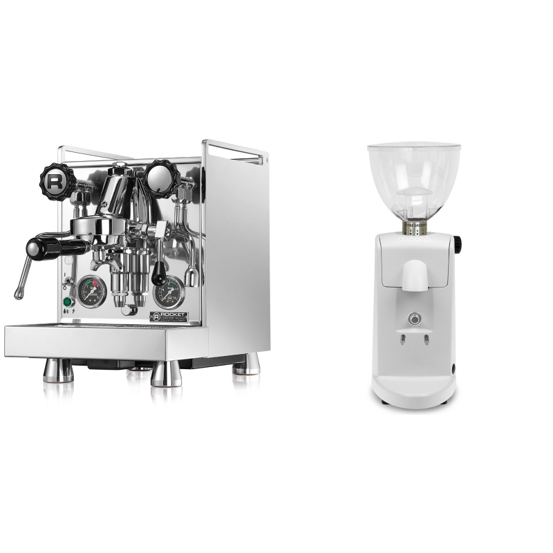 Rocket Espresso Mozzafiato Cronometro R + Ascaso i-mini i1, bílá