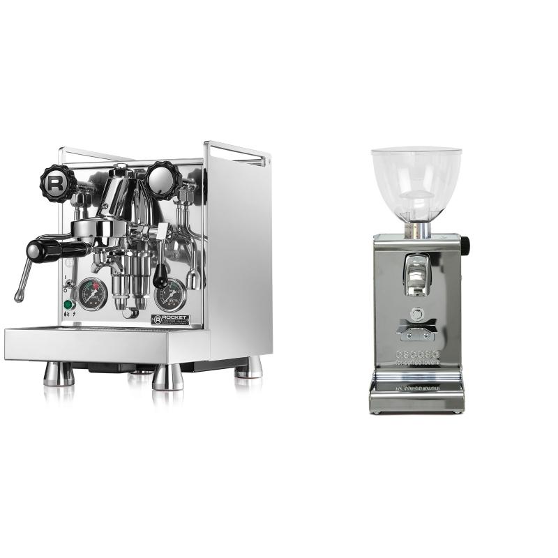 Rocket Espresso Mozzafiato Cronometro R + Ascaso i-steel, lesk