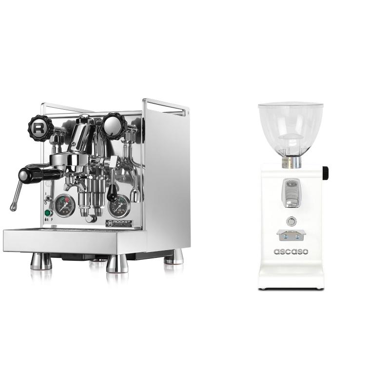 Rocket Espresso Mozzafiato Cronometro R + Ascaso i-steel, bílá