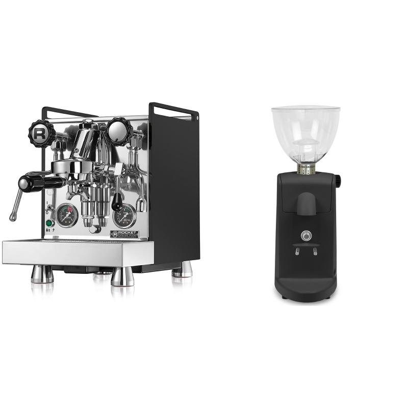 Rocket Espresso Mozzafiato Cronometro R, černá + Ascaso i-mini i1, černá