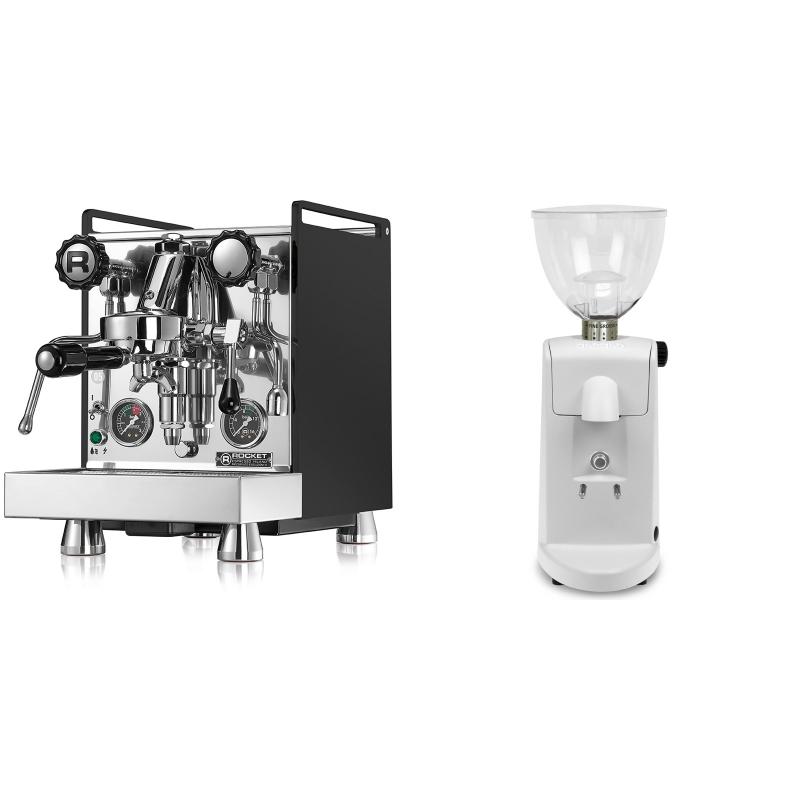 Rocket Espresso Mozzafiato Cronometro R, černá + Ascaso i-mini i1, bílá