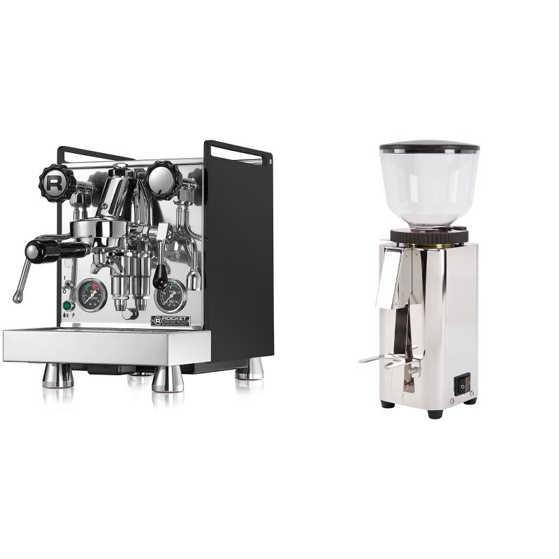 Rocket Espresso Mozzafiato Cronometro R, černá + ECM C-Manuale 54