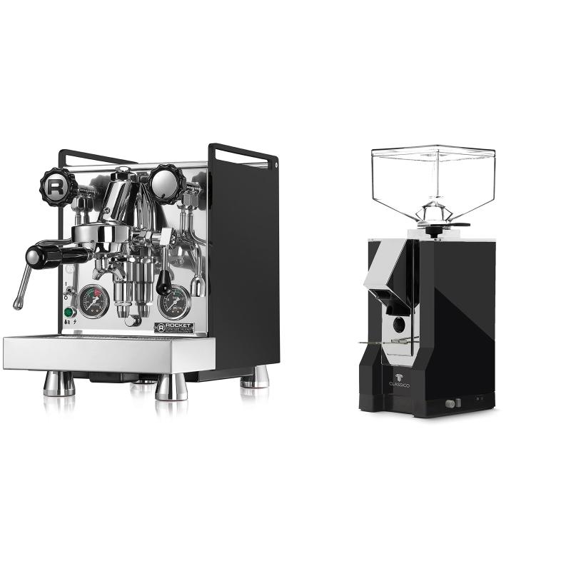 Rocket Espresso Mozzafiato Cronometro R, černá + Eureka Mignon Classico, CR black
