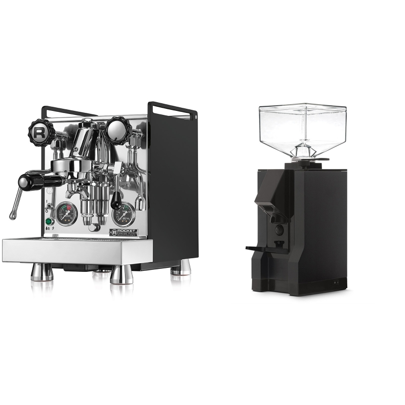 Rocket Espresso Mozzafiato Cronometro R, černá + Eureka Mignon Manuale, BL black