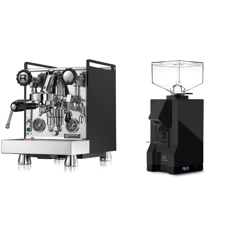 Rocket Espresso Mozzafiato Cronometro R, černá + Eureka Mignon Silenzio, BL black