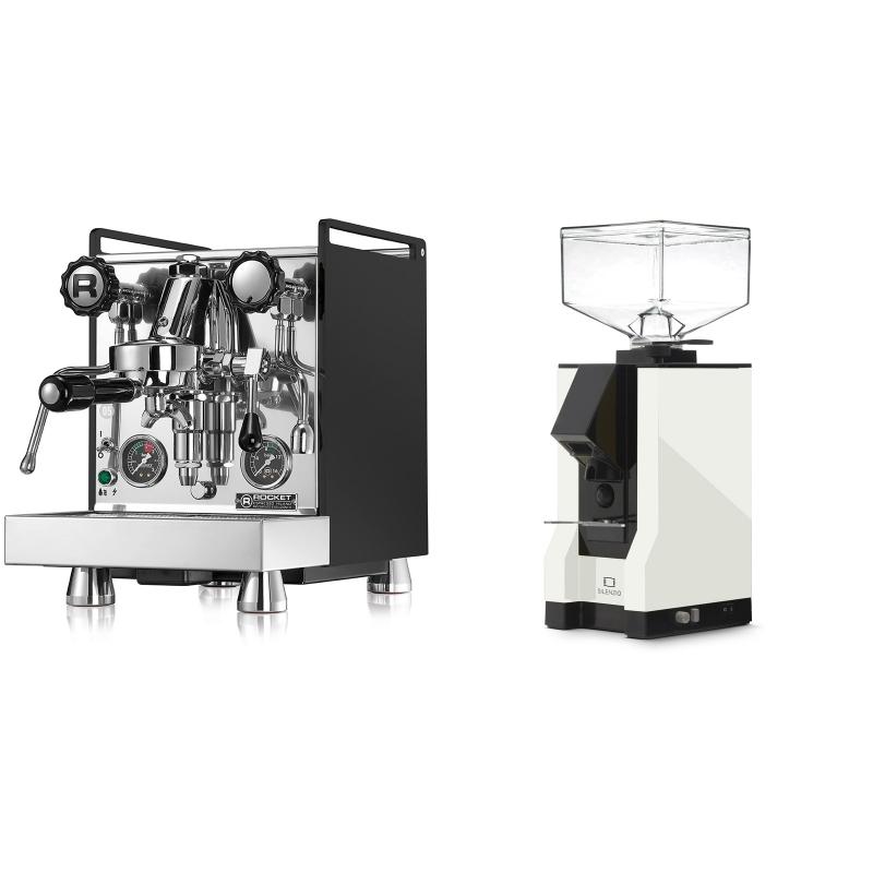 Rocket Espresso Mozzafiato Cronometro R, černá + Eureka Mignon Silenzio, BL white