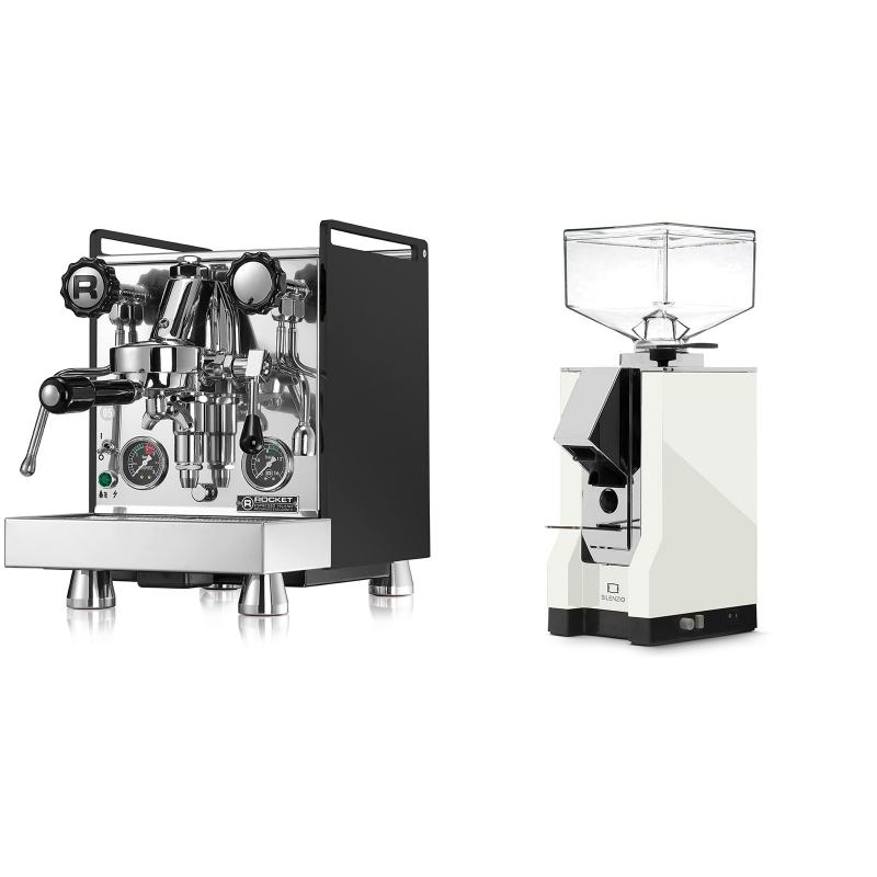 Rocket Espresso Mozzafiato Cronometro R, černá + Eureka Mignon Silenzio, CR white