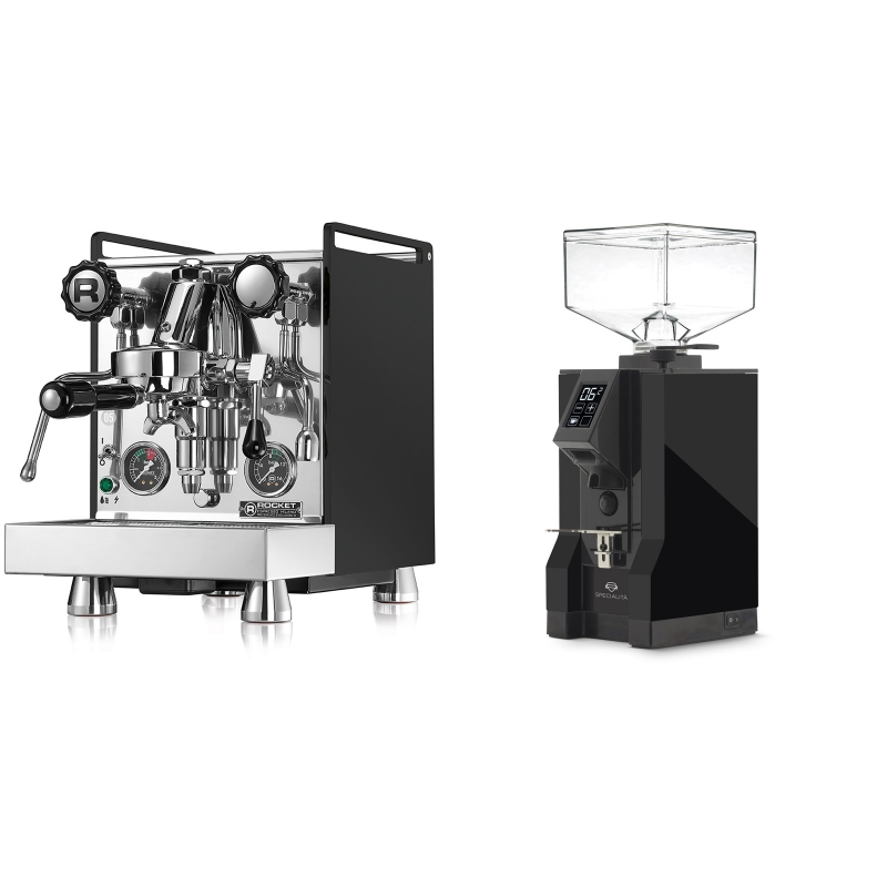 Rocket Espresso Mozzafiato Cronometro R, černá + Eureka Mignon Specialita, BL black