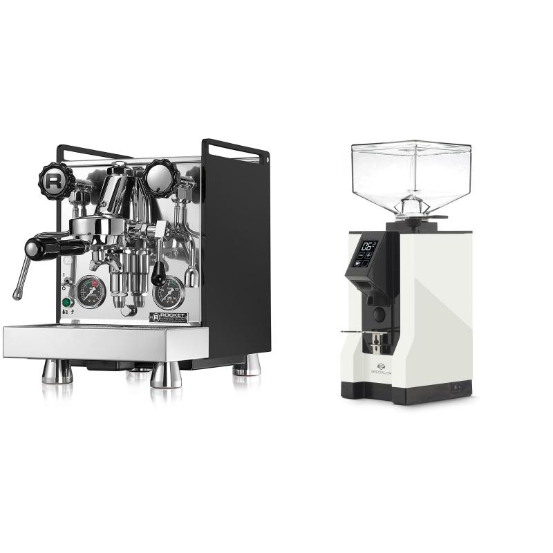 Rocket Espresso Mozzafiato Cronometro R, černá + Eureka Mignon Specialita, BL white