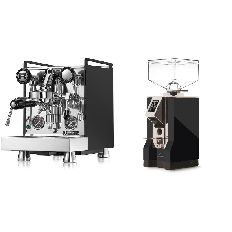 Rocket Espresso Mozzafiato Cronometro R, černá + Eureka Mignon Specialita, CR black