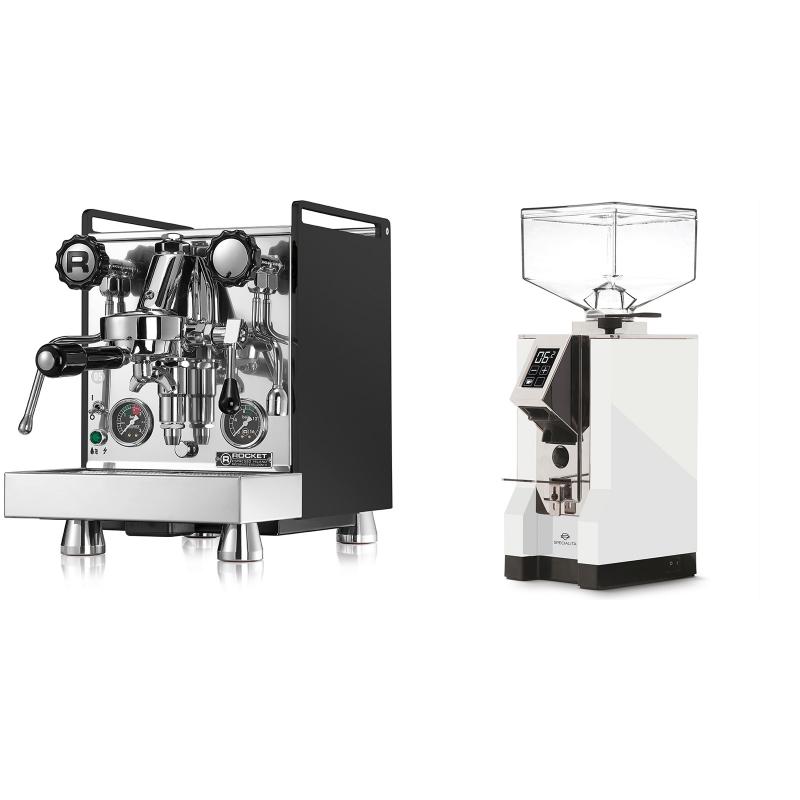 Rocket Espresso Mozzafiato Cronometro R, černá + Eureka Mignon Specialita, CR white