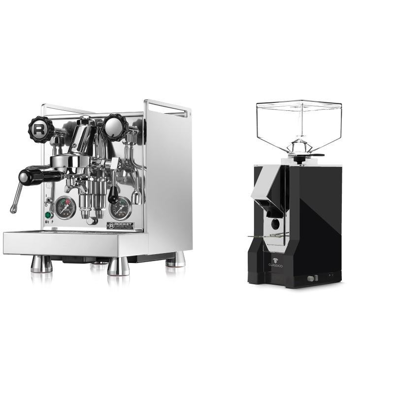 Rocket Espresso Mozzafiato Cronometro R + Eureka Mignon Classico, CR black