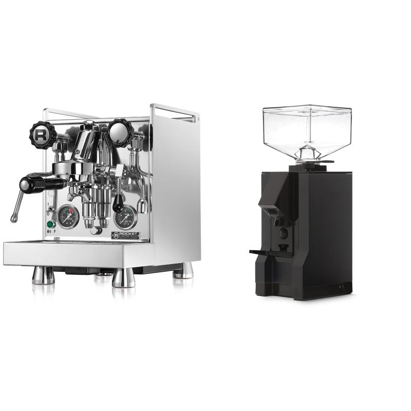 Rocket Espresso Mozzafiato Cronometro R + Eureka Mignon Manuale, BL black