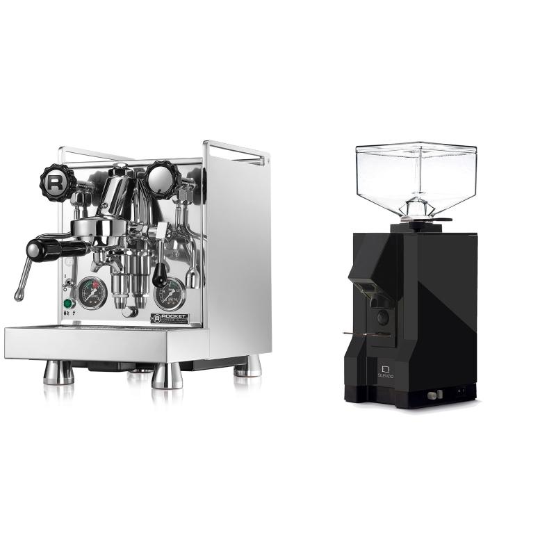 Rocket Espresso Mozzafiato Cronometro R + Eureka Mignon Silenzio, BL black