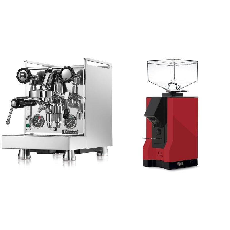Rocket Espresso Mozzafiato Cronometro R + Eureka Mignon Silenzio, BL ferrari red