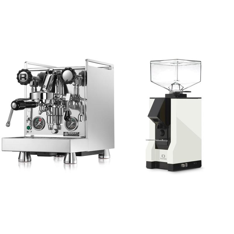 Rocket Espresso Mozzafiato Cronometro R + Eureka Mignon Silenzio, BL white