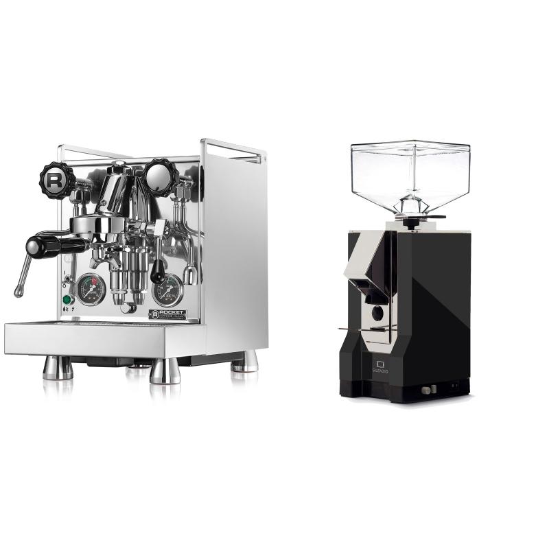 Rocket Espresso Mozzafiato Cronometro R + Eureka Mignon Silenzio, CR black