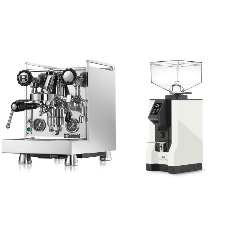 Rocket Espresso Mozzafiato Cronometro R + Eureka Mignon Specialita, BL white