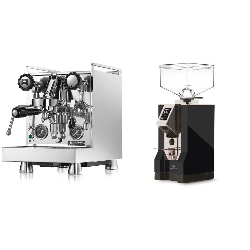 Rocket Espresso Mozzafiato Cronometro R + Eureka Mignon Specialita, CR black