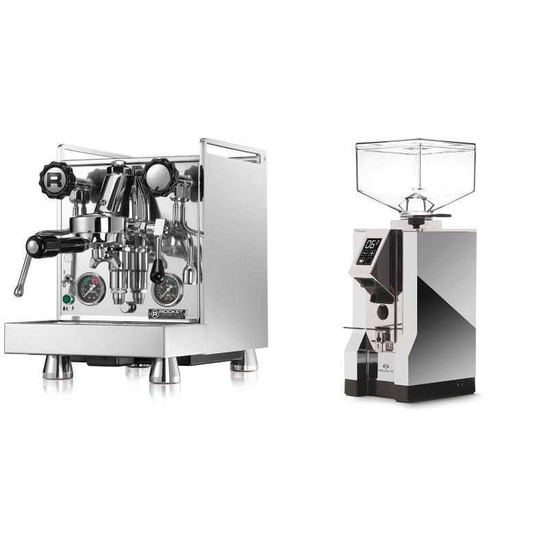 Rocket Espresso Mozzafiato Cronometro R + Eureka Mignon Specialita, CR chrome