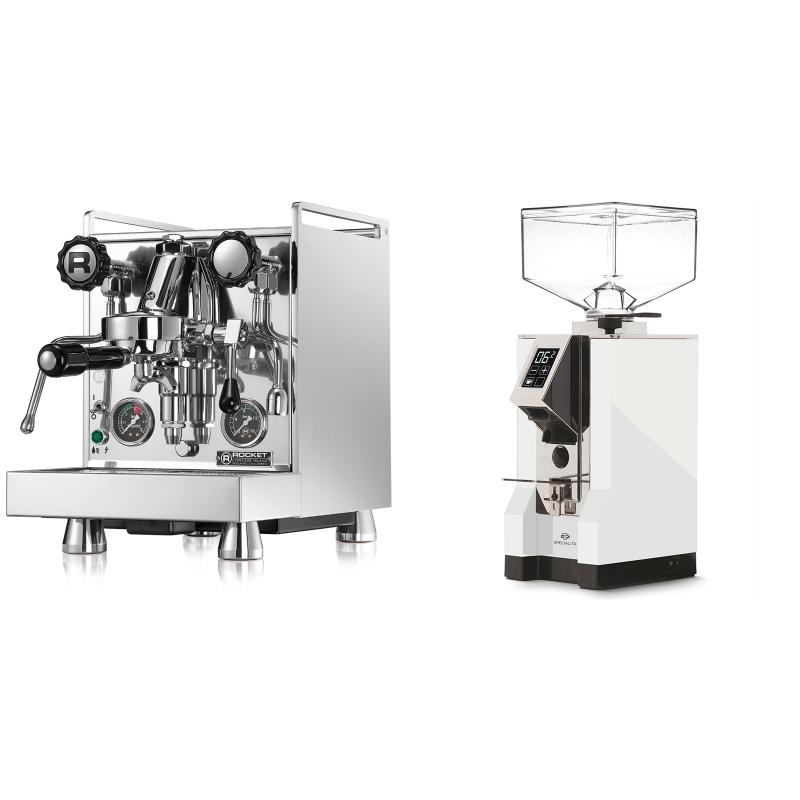 Rocket Espresso Mozzafiato Cronometro R + Eureka Mignon Specialita, CR white