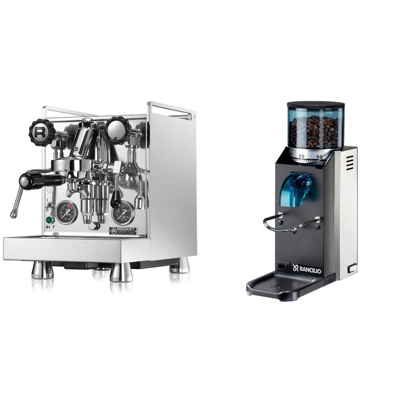Rocket Espresso Mozzafiato Cronometro R + Rancilio Rocky Doserless