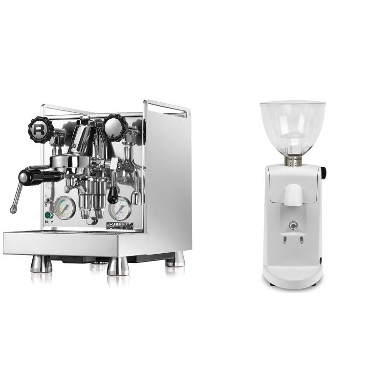 Rocket Espresso Mozzafiato Cronometro V + Ascaso i-mini i1, bílá