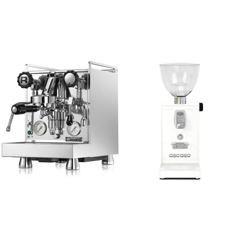 Rocket Espresso Mozzafiato Cronometro V + Ascaso i-steel, bílá