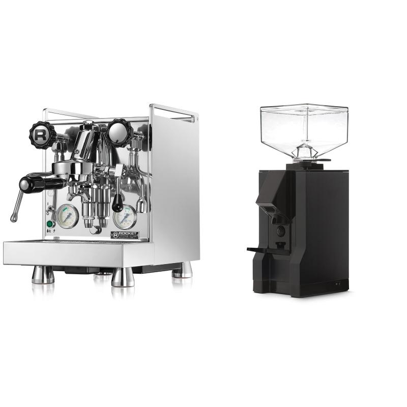 Rocket Espresso Mozzafiato Cronometro V + Eureka Mignon Manuale, BL black