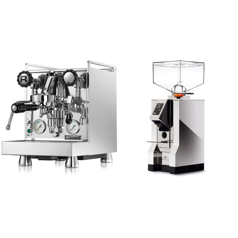 Rocket Espresso Mozzafiato Cronometro V + Eureka Mignon Perfetto, CR chrome