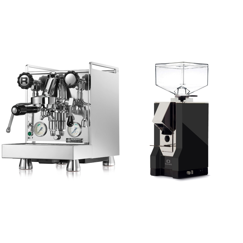Rocket Espresso Mozzafiato Cronometro V + Eureka Mignon Silenzio, CR black