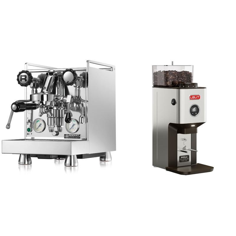 Rocket Espresso Mozzafiato Cronometro V + Lelit William PL72