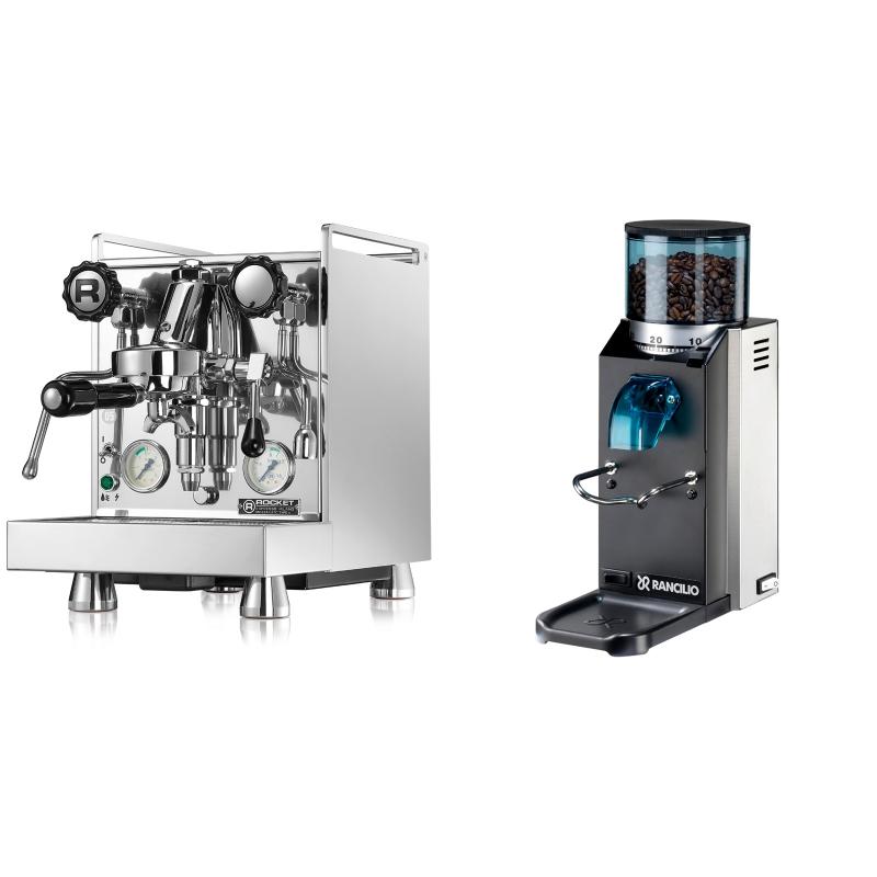Rocket Espresso Mozzafiato Cronometro V + Rancilio Rocky Doserless