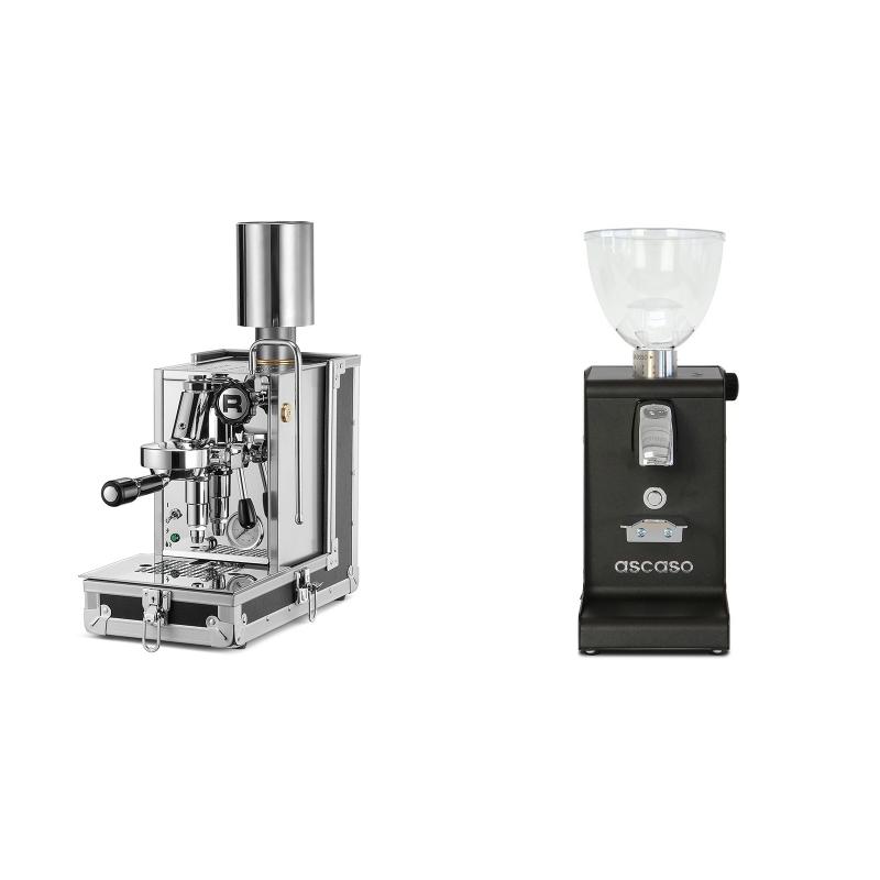 Rocket Espresso Porta Via + Ascaso i-steel, černá
