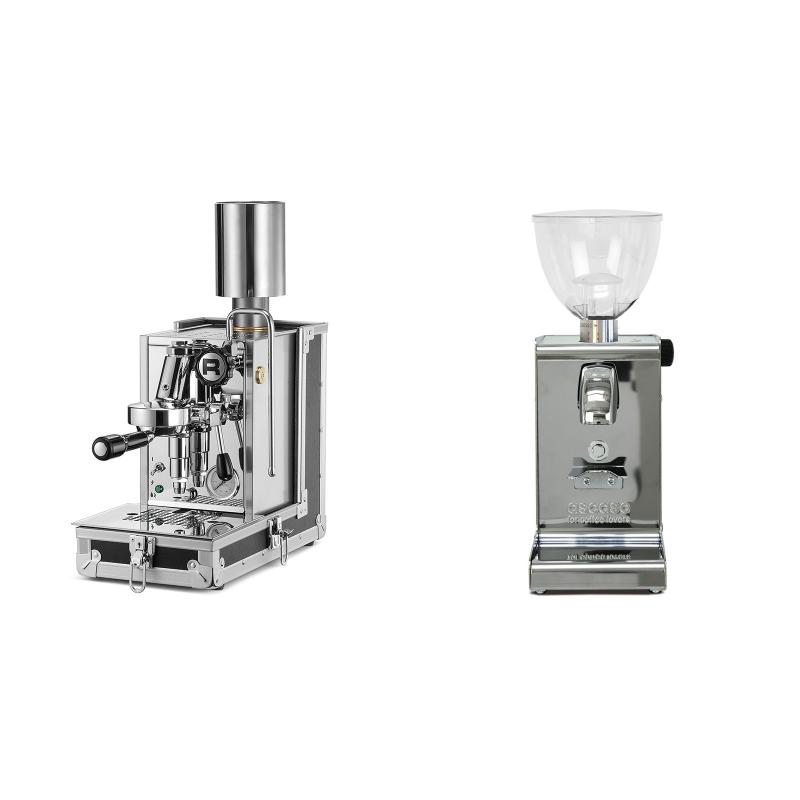 Rocket Espresso Porta Via + Ascaso i-steel, lesk