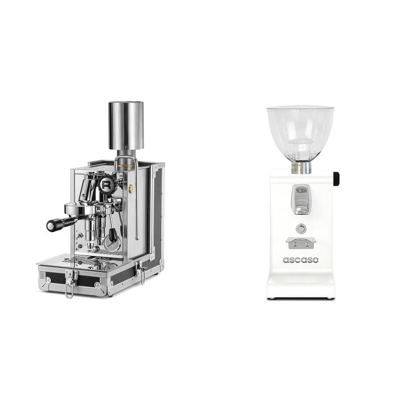 Rocket Espresso Porta Via + Ascaso i-steel, bílá