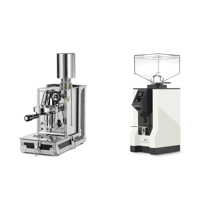 Rocket Espresso Porta Via + Eureka Mignon Specialita, BL white