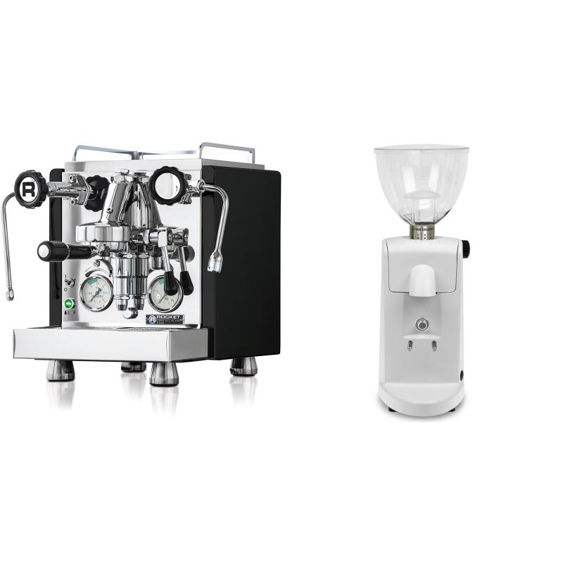 Rocket Espresso R 60V, černá + Ascaso i-mini i1, bílá
