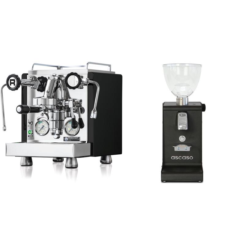 Rocket Espresso R 60V, černá + Ascaso i-steel, černá
