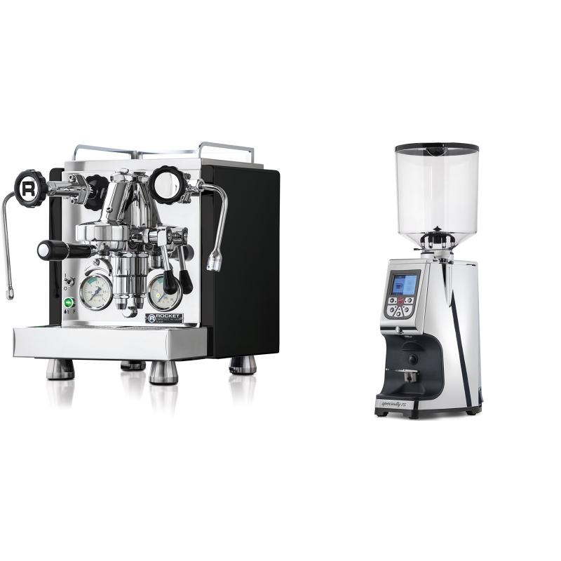 Rocket Espresso R 60V, černá + Eureka Atom Specialty 75, chrome