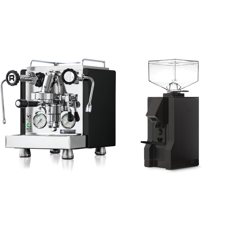 Rocket Espresso R 60V, černá + Eureka Mignon Manuale, BL black