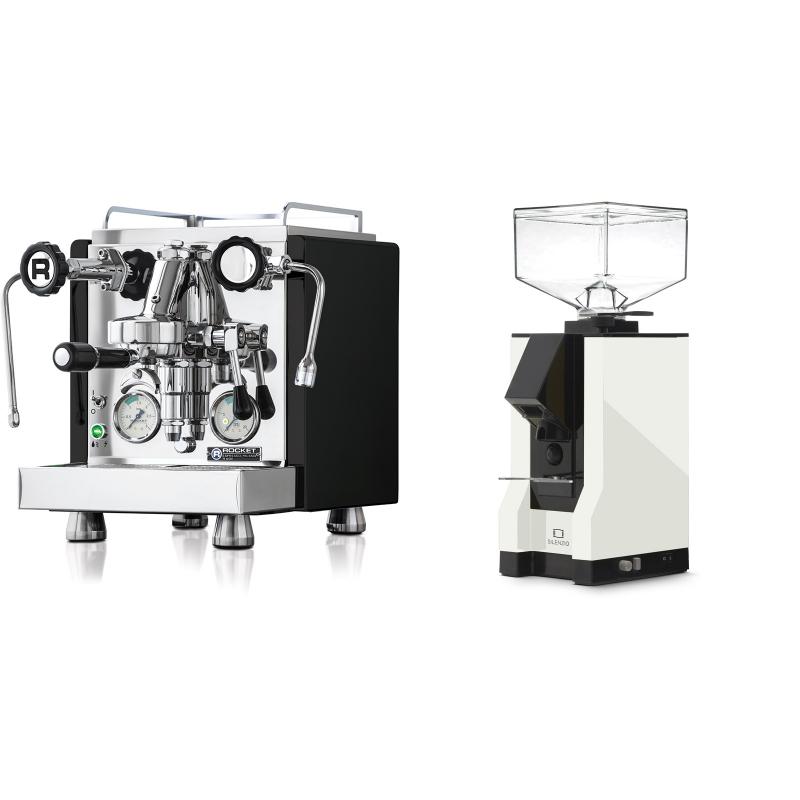 Rocket Espresso R 60V, černá + Eureka Mignon Silenzio, BL white